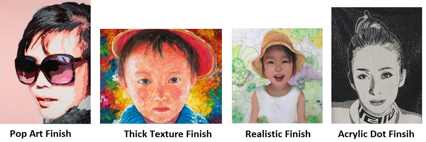 Types Of Portrait Finishing